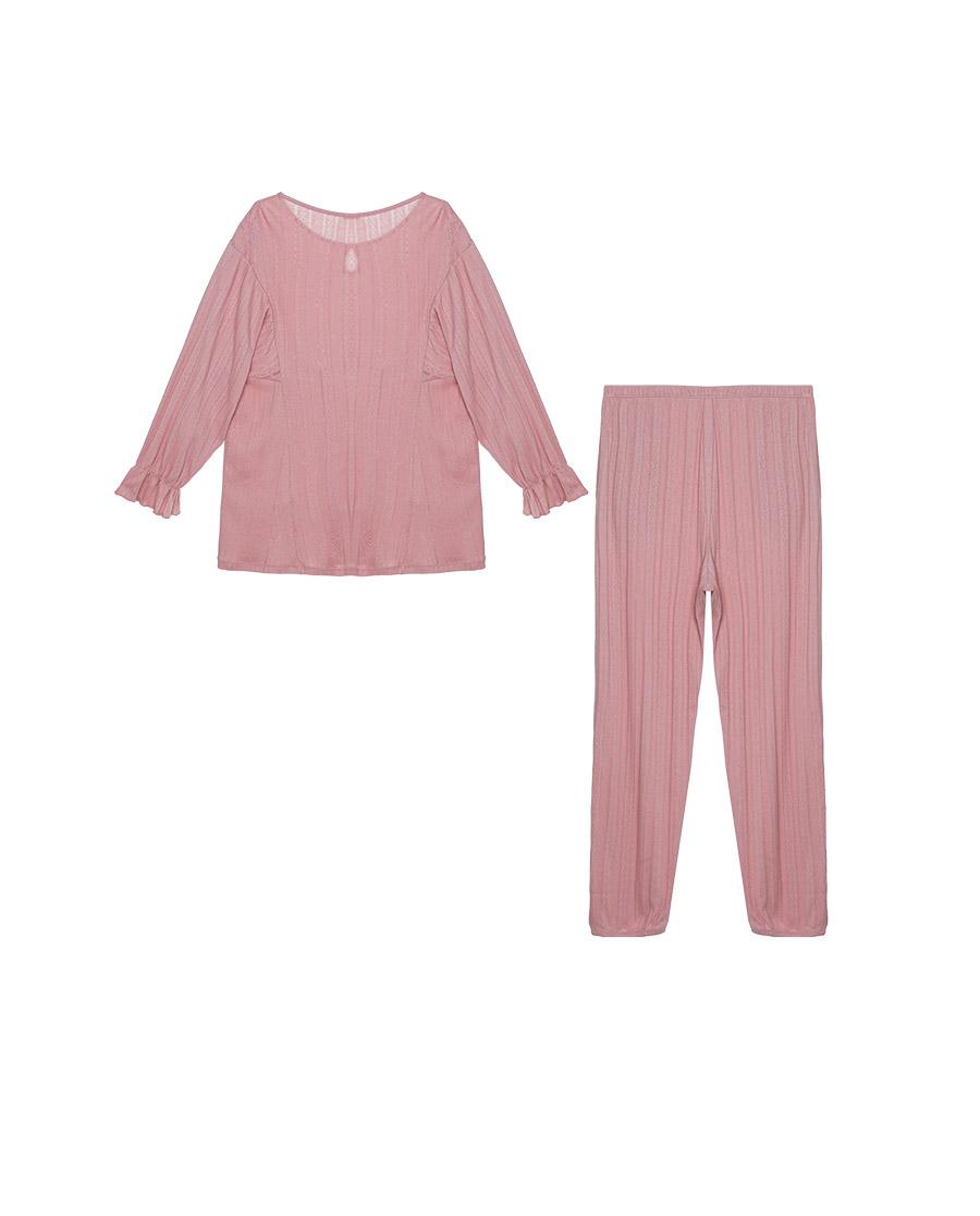Aimer Basic睡衣|爱慕在线-纯享生活七分袖长裤分身套装AM