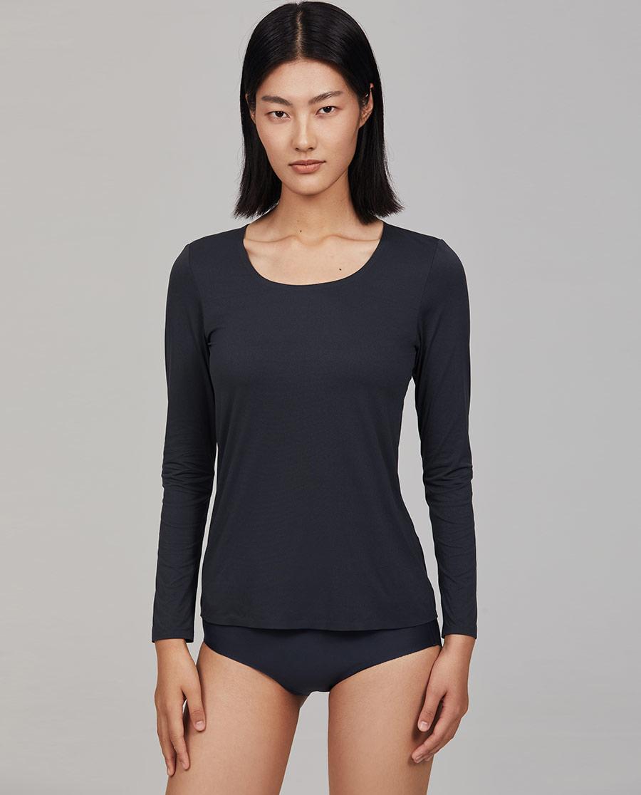 Aimer CHUANG保暖|爱慕·CHUANG细沙系列超细长袖上衣C