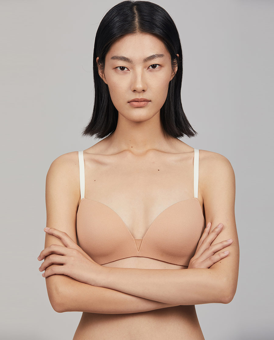 Aimer CHUANG文胸|爱慕·CHUANG简塑系列3/4无托中厚