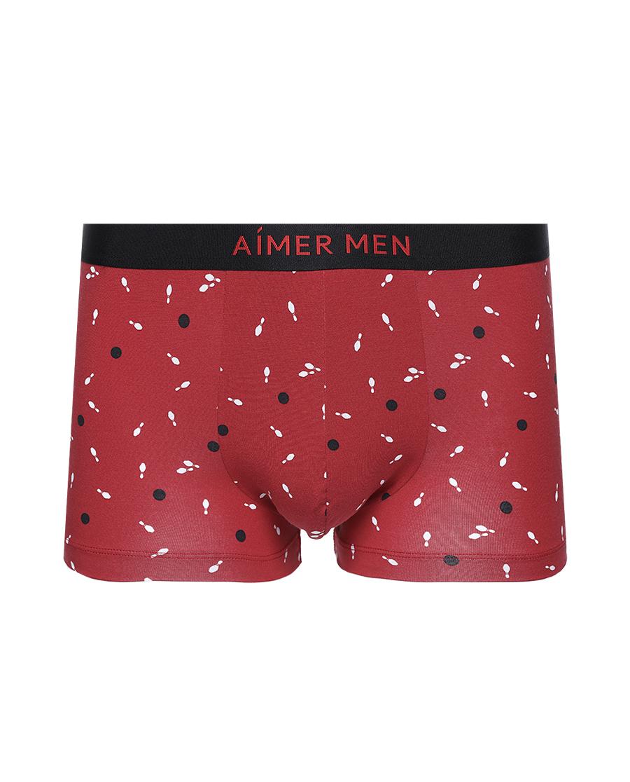 Aimer Men内裤|爱慕先生21SS莫代尔印花装腰平角裤NS