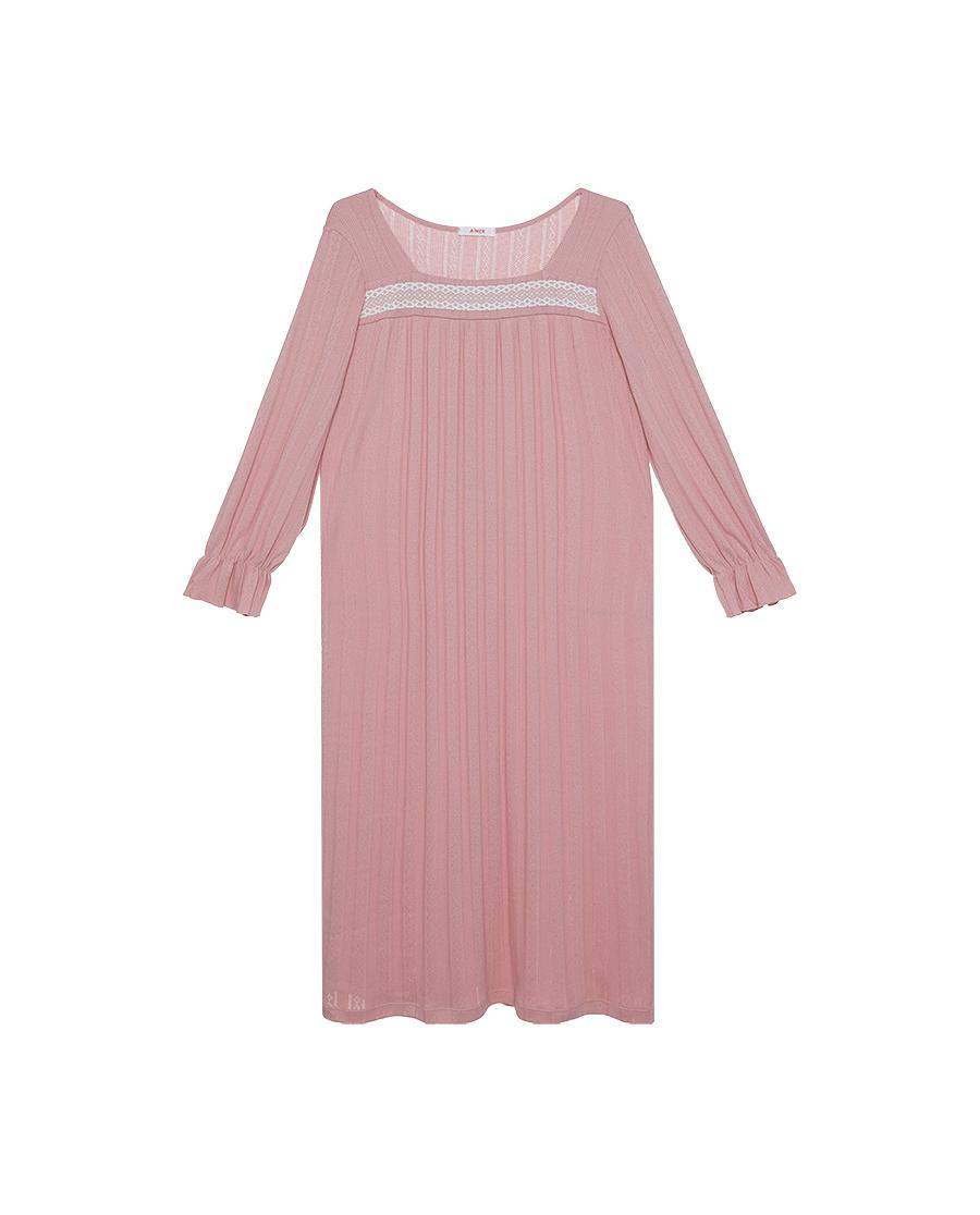 Aimer Basic睡衣|爱慕在线-纯享生活七分袖长睡裙AM445