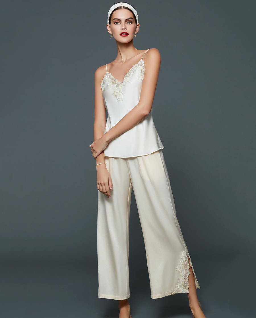La Clover睡衣|兰卡文闪耀星光系列真丝长裤LC47QF1