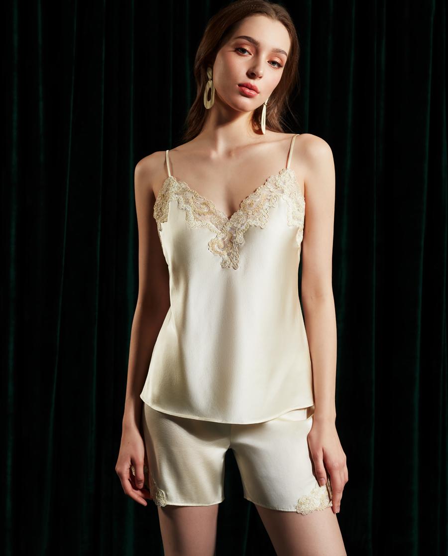 La Clover睡衣|兰卡文闪耀星光系列真丝短裤LC47QF2