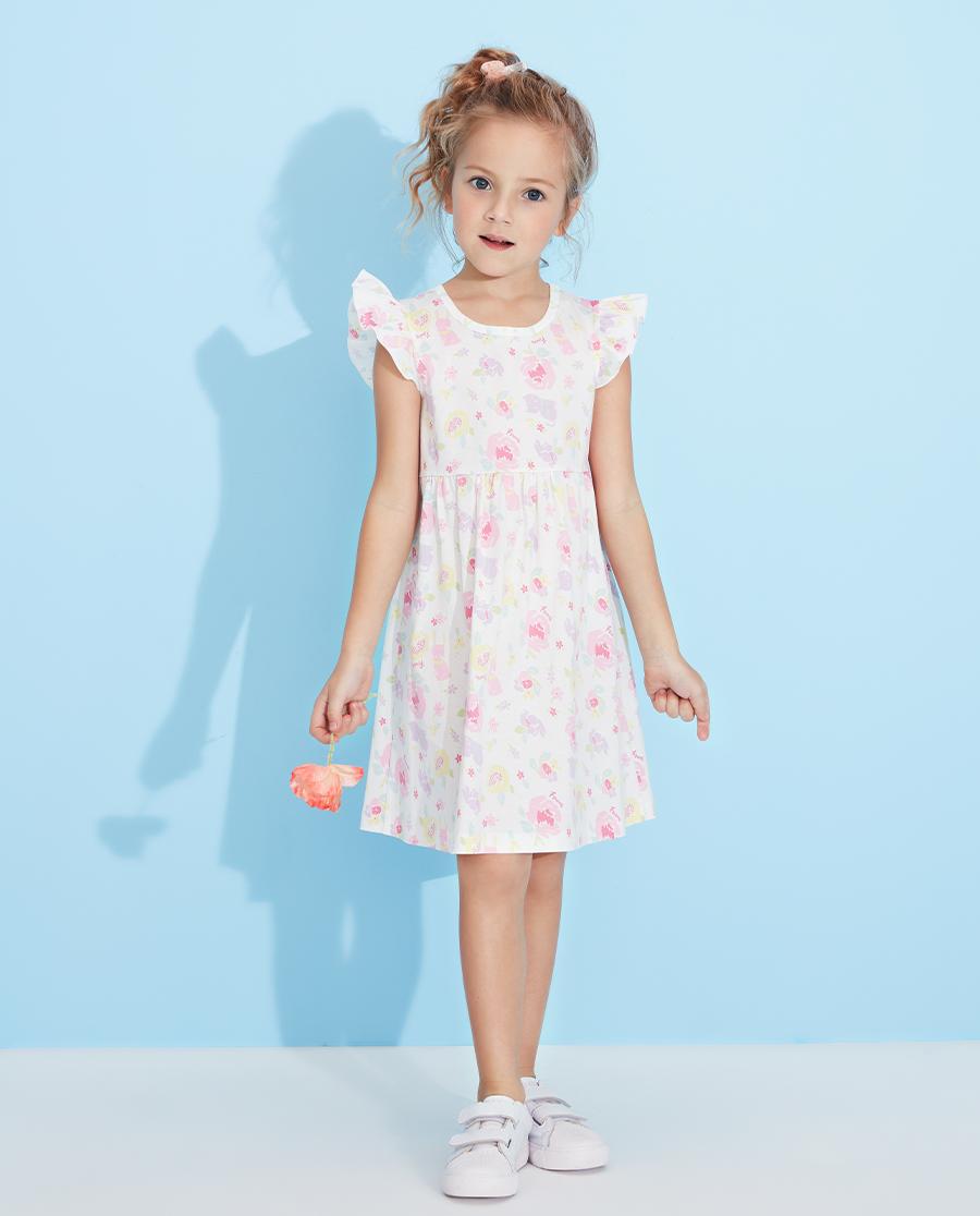 Aimer Kids睡衣|爱慕儿童甜香花园女孩短袖睡裙AK1442911