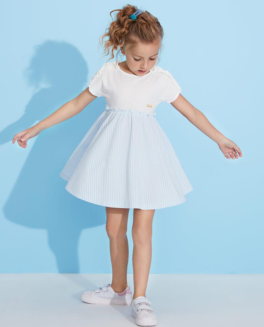 Aimer Kids睡衣|爱慕儿童罗马假日女孩短袖连衣裙AK1833102