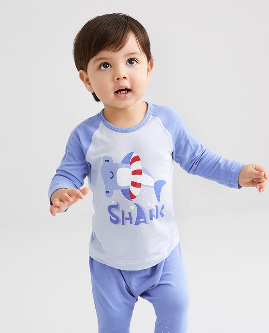 Aimer Baby睡衣|爱慕婴儿鲨鱼游记男婴幼套头长袖睡衣AB2414692