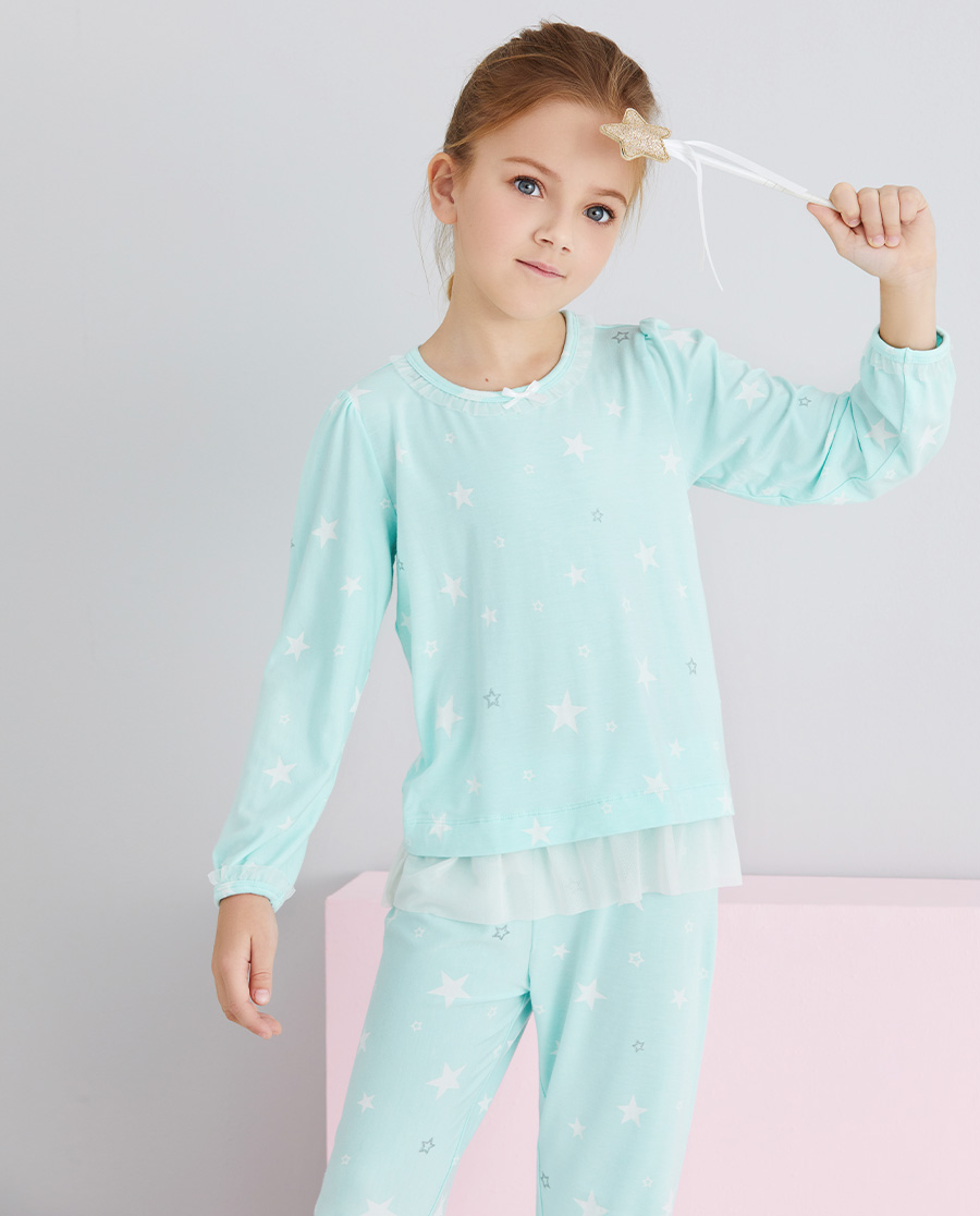 Aimer Kids睡衣|爱慕儿童梦幻银河女孩套头长袖睡衣AK1415121