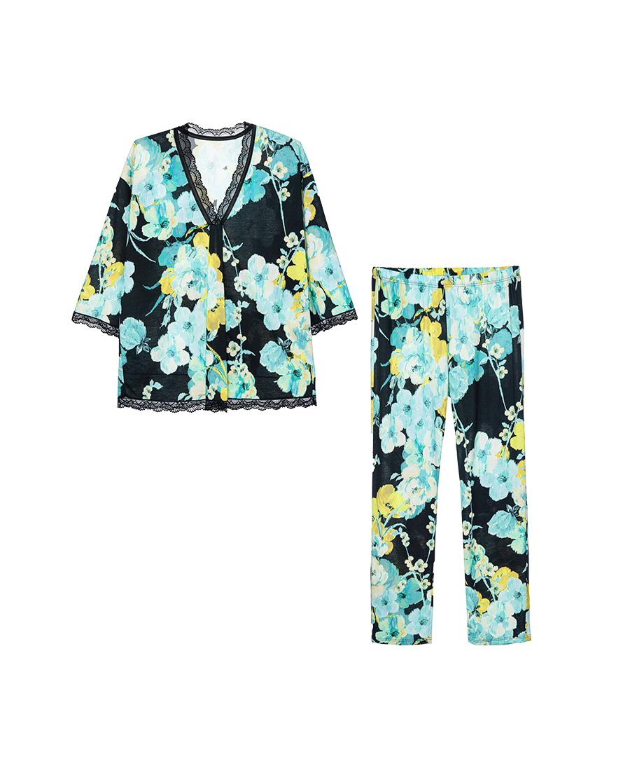ROSCH睡衣|悦色系列短袖分身睡衣套装R1214105