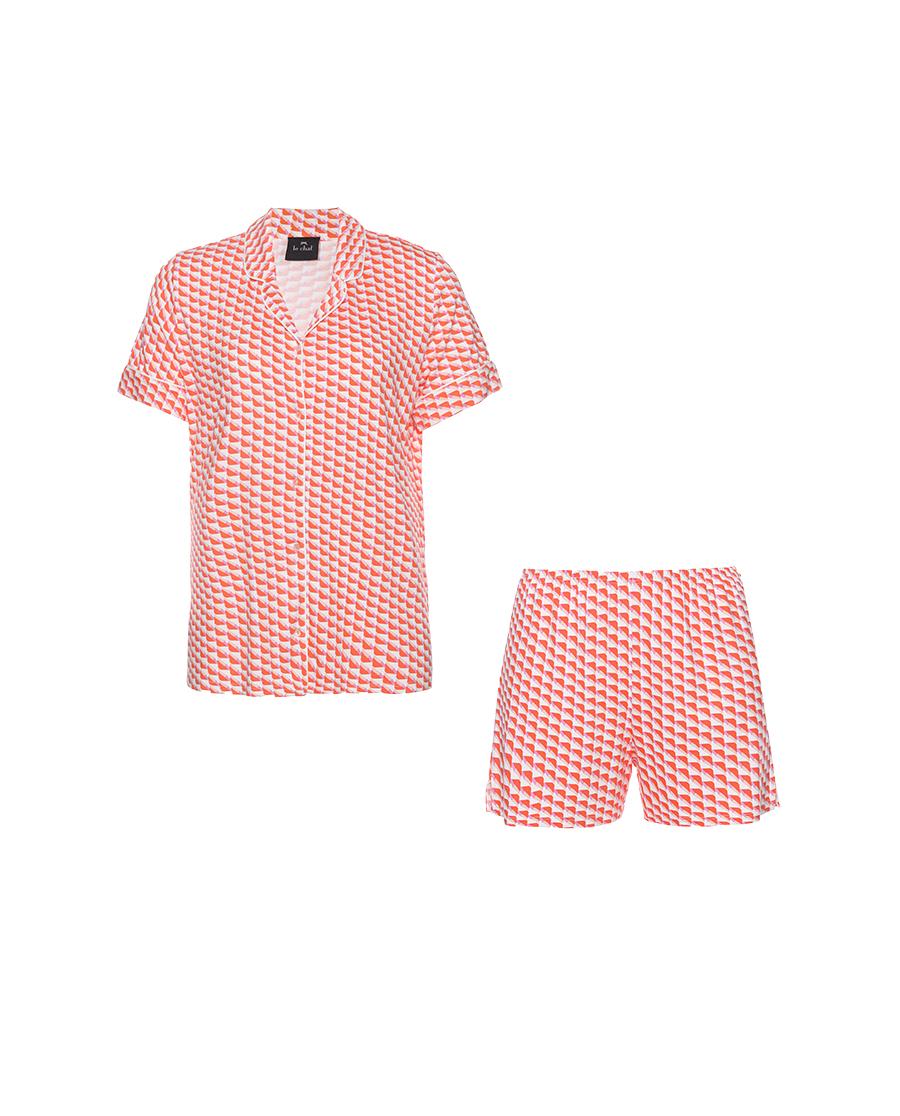Le Chat睡衣|烈焰幻魅系列短袖分身睡衣套装LEVT10