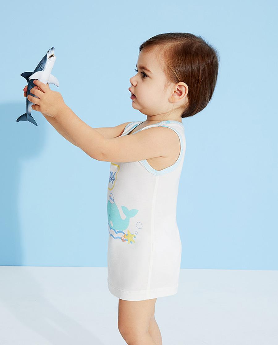 Aimer Baby睡衣|爱慕婴儿趣味海洋男婴幼长背心AB2112