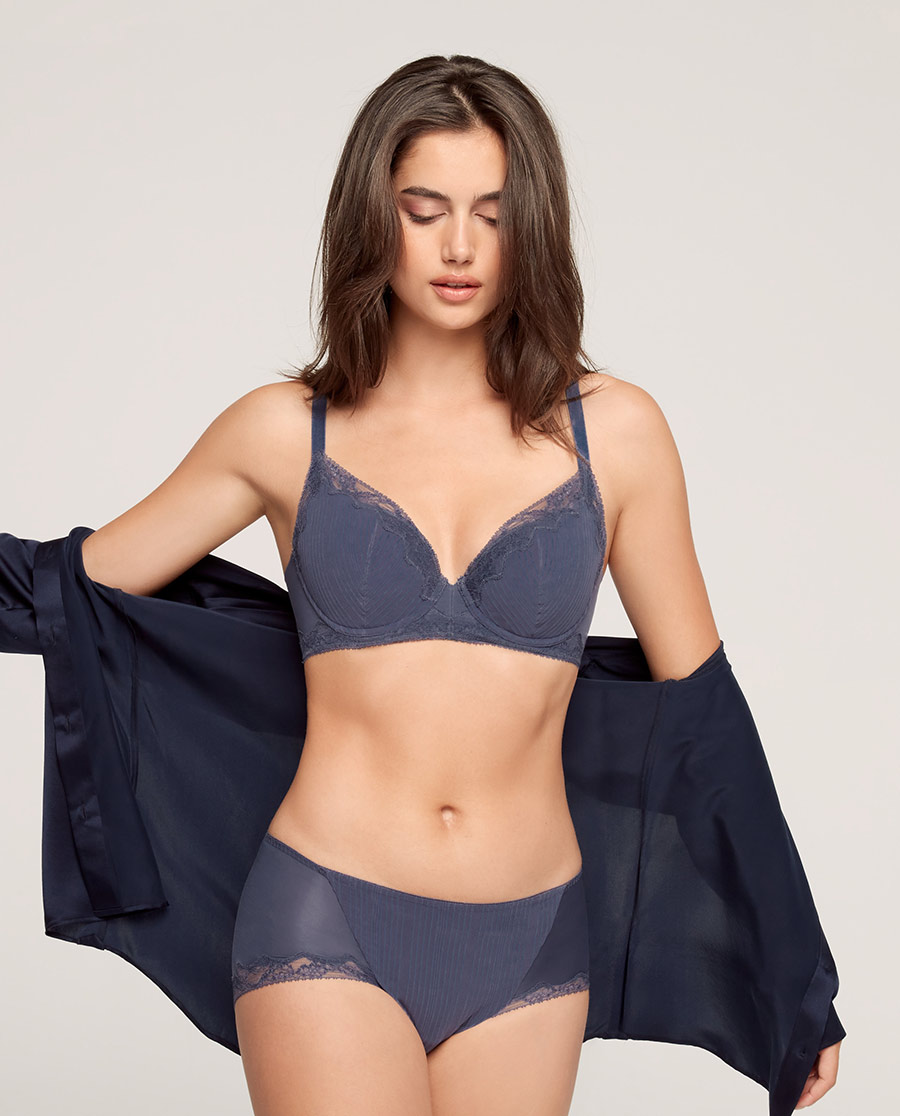 Aimer内裤|爱慕21SS裸感中腰平角裤AM235541