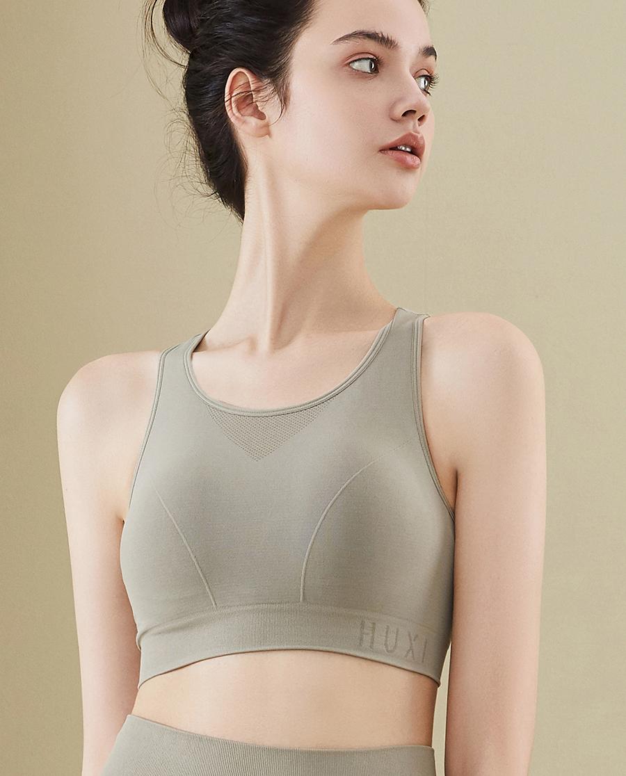 HUXI文胸|慢·YOGA 一体织工字背心轻运动文胸