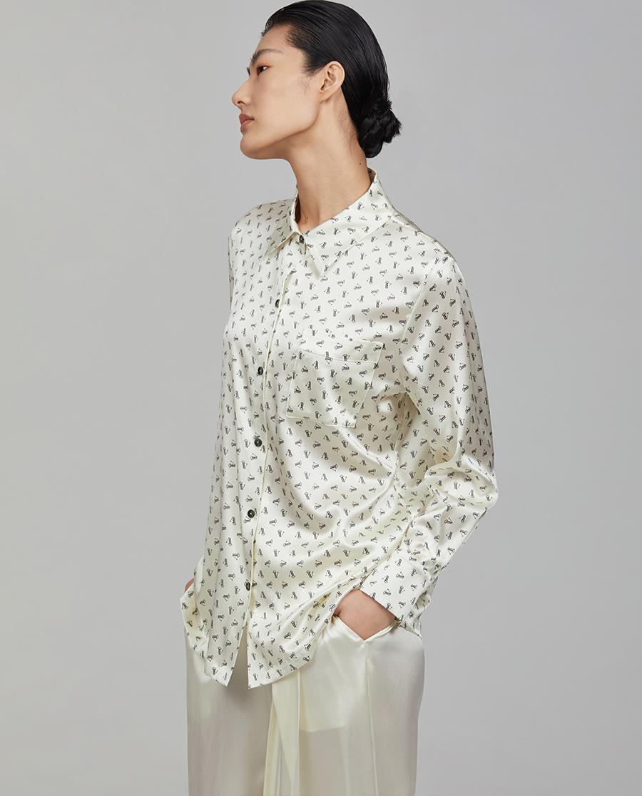 Aimer CHUANG睡衣| 爱慕·CHUANG调性系列真丝印花长袖