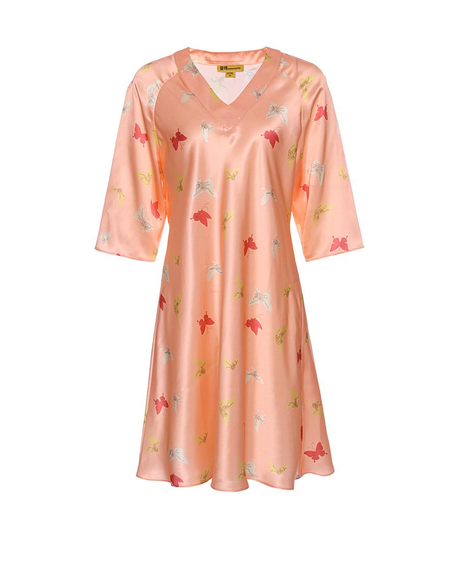 EMPERORIENT睡衣|皇锦修身V领长袖长裙HJ21314