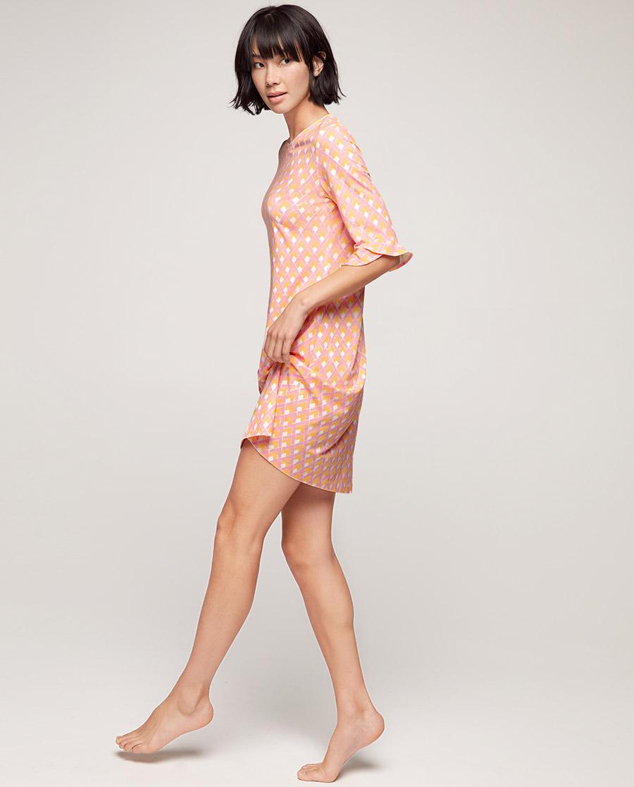 Aimer睡衣|爱慕美棉格调五分袖睡裙AM445581