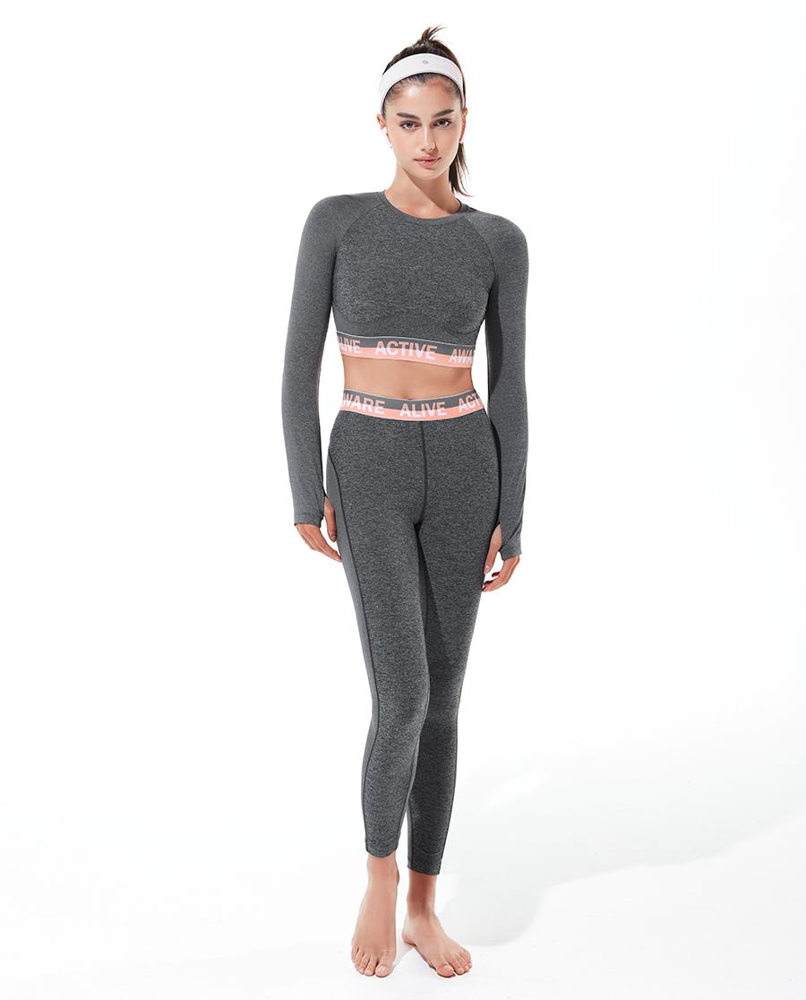 Aimer Sports运动装|爱慕运动美颜瑜伽II短款长袖T恤AS14