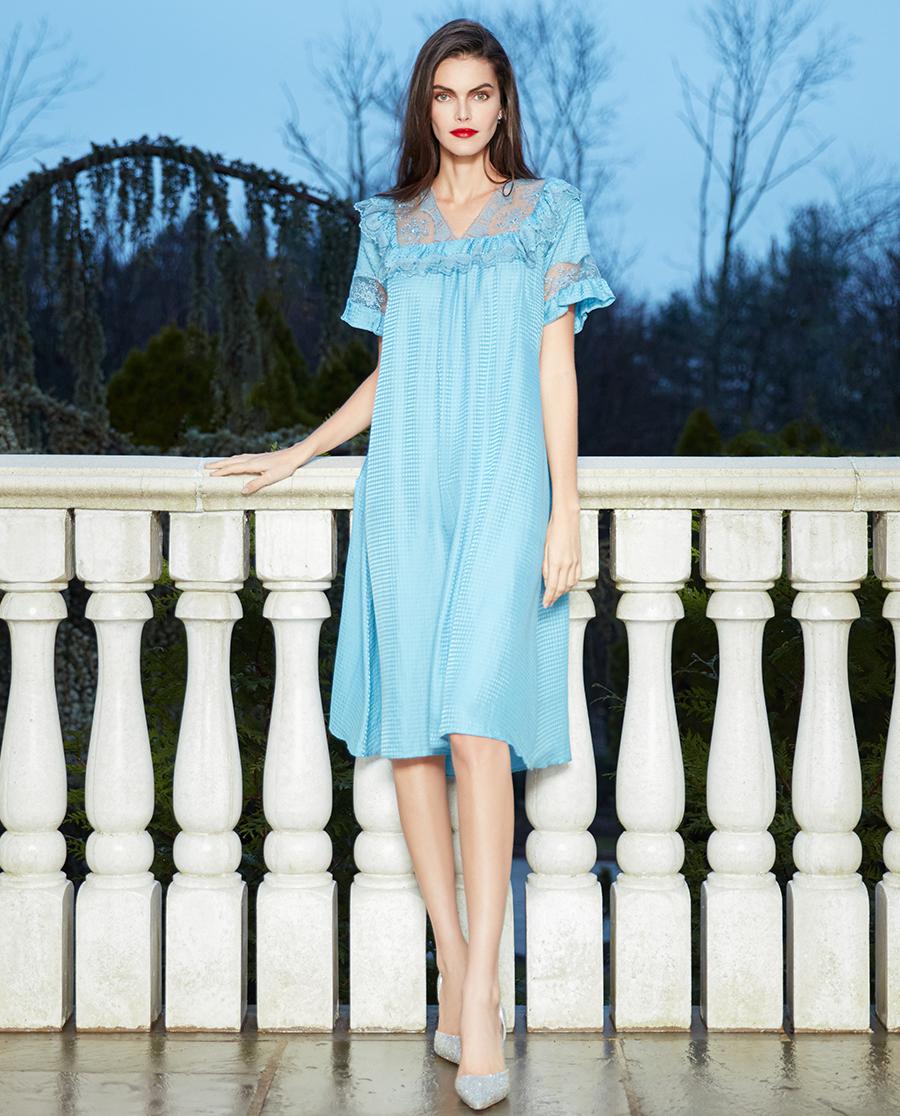 La Clover睡衣|兰卡文醇享时光系列长睡裙LC44PT1
