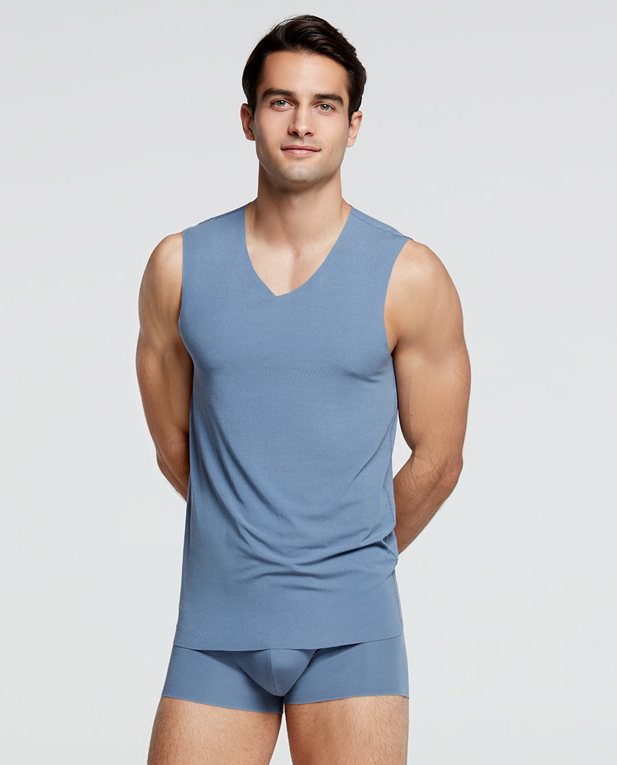 Aimer Men睡衣|爱慕先生 21SS80s莫代尔全随心两件