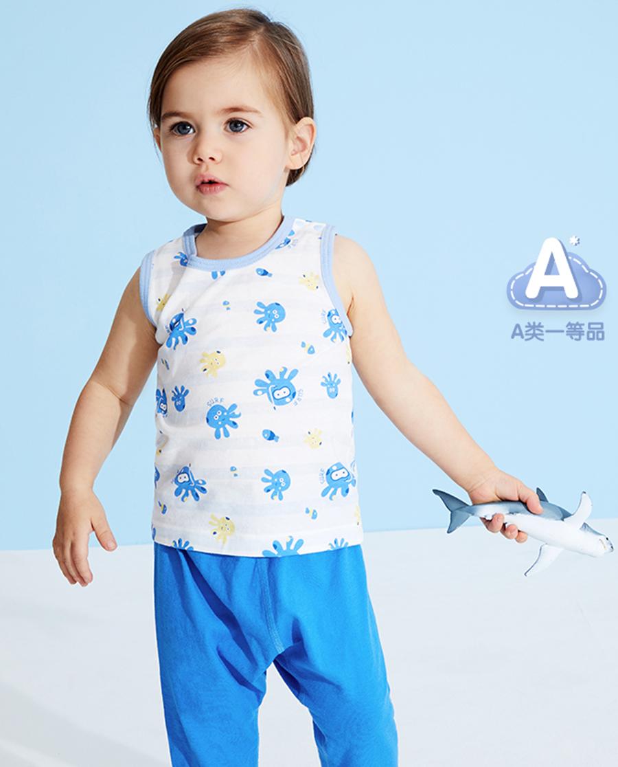 Aimer Baby睡衣 爱慕婴儿章鱼小家伙男婴幼背心AB2112