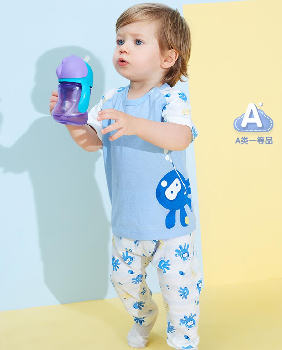 Aimer Baby睡衣 爱慕婴儿章鱼小家伙男婴幼套头短袖睡衣AB