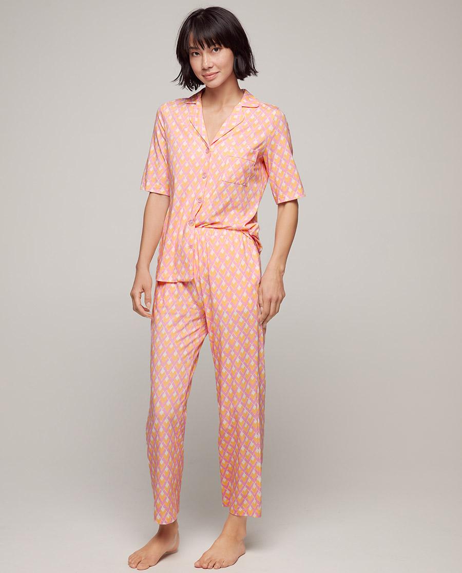 Aimer睡衣|爱慕美棉格调五分袖分身家居套装AM465