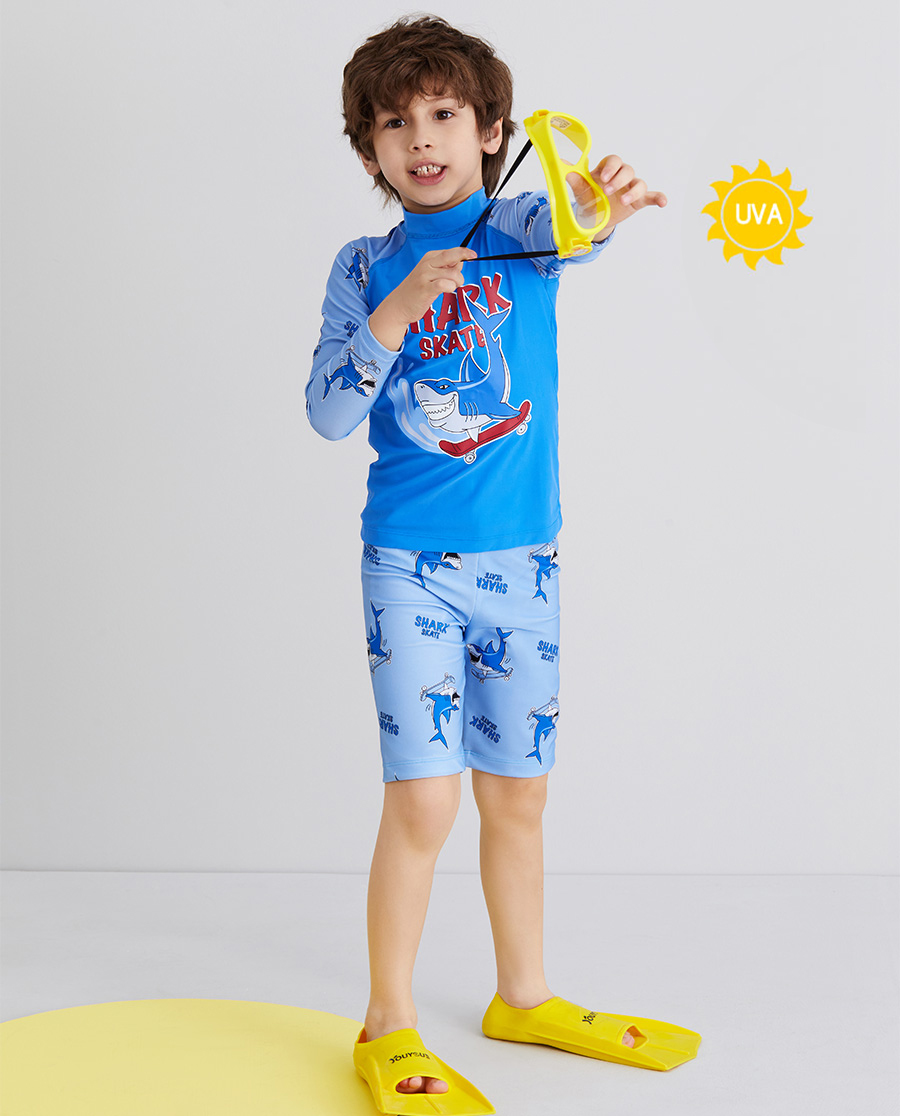 Aimer Kids泳衣 爱慕儿童滑板鲨鱼男孩五分泳裤AK2675