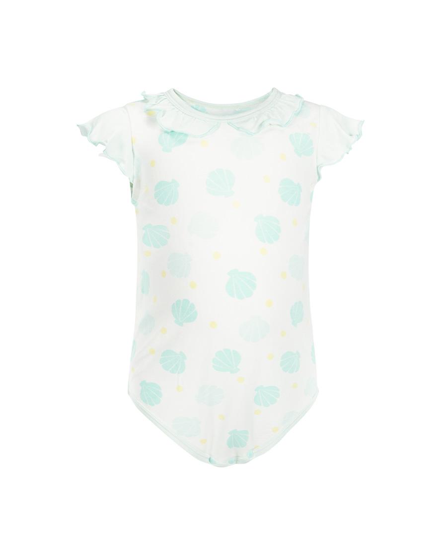 Aimer Baby睡衣 爱慕婴儿人鱼小贝壳女婴幼短袖无腿连体爬服