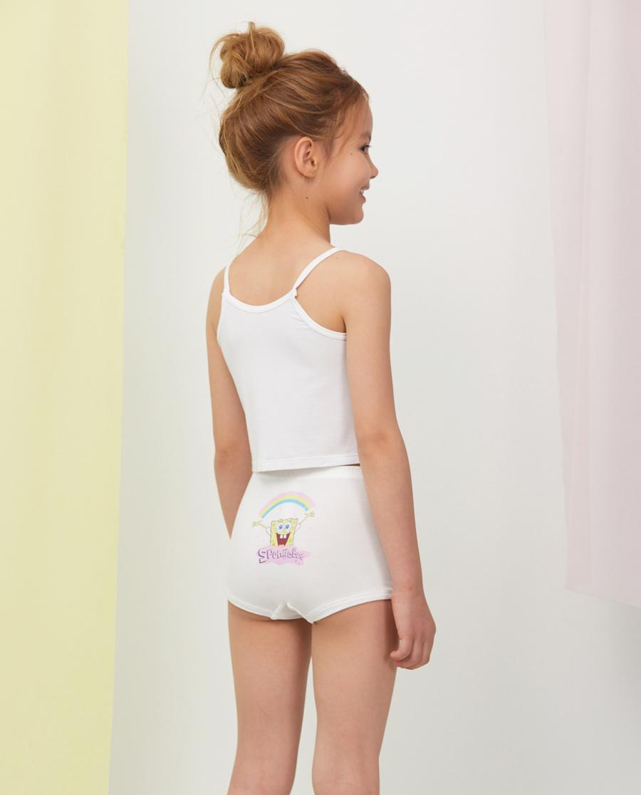 Aimer Kids内裤|爱慕儿童天使小裤MODAL海绵宝宝女孩立