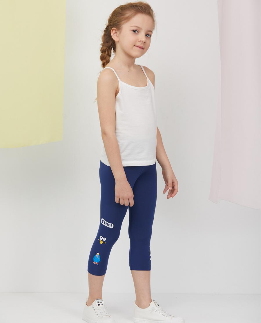 Aimer Kids睡衣|爱慕儿童印花打底裤女孩运动鸭七分打底裤A