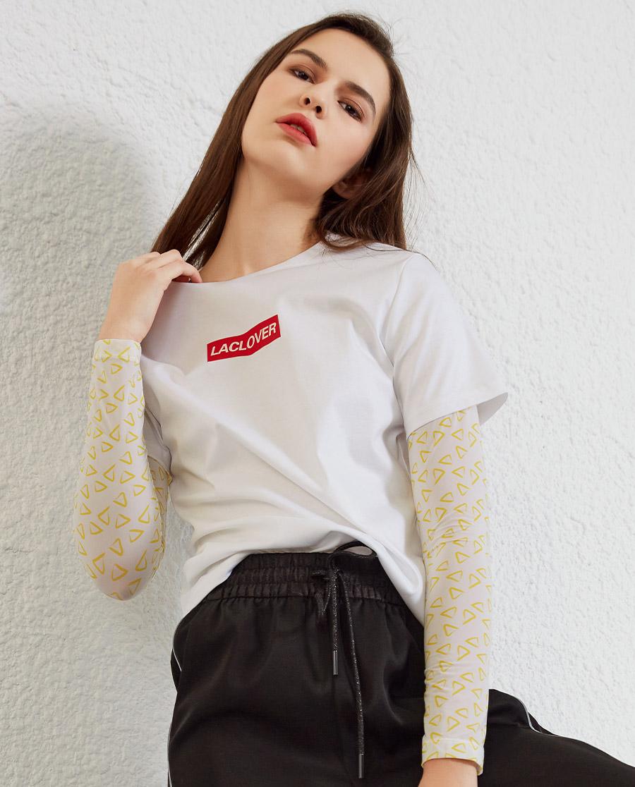La Clover睡衣|兰卡文HI TEE系列T恤LC81QP1