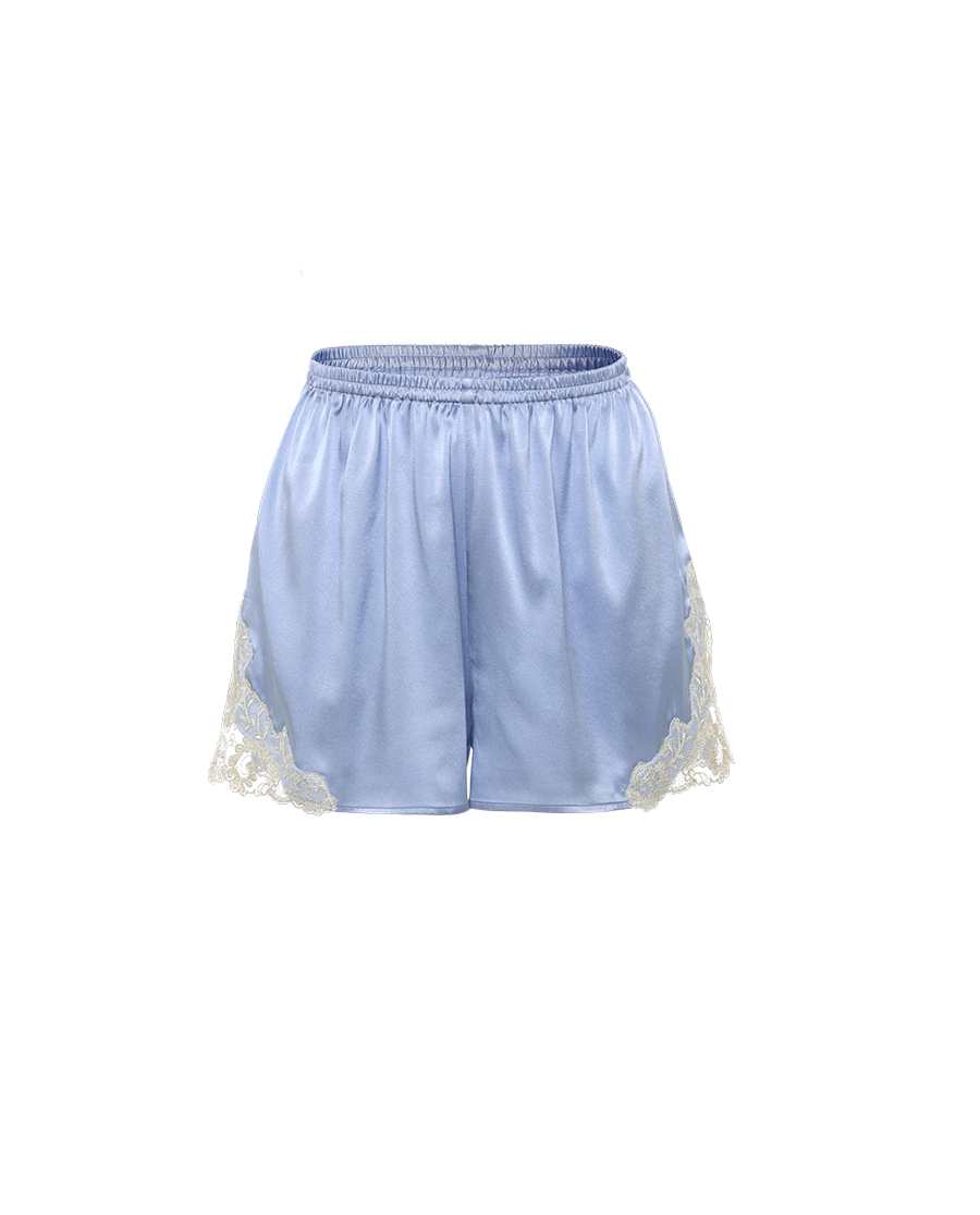 La Clover睡衣|兰卡文浪漫时光系列真丝短裤LC47QB2