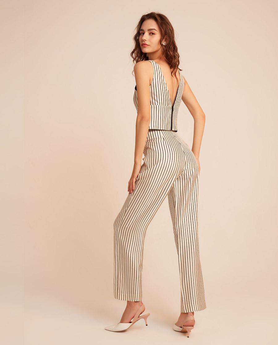 BECHIC睡衣|变奏曲系列条纹长裤