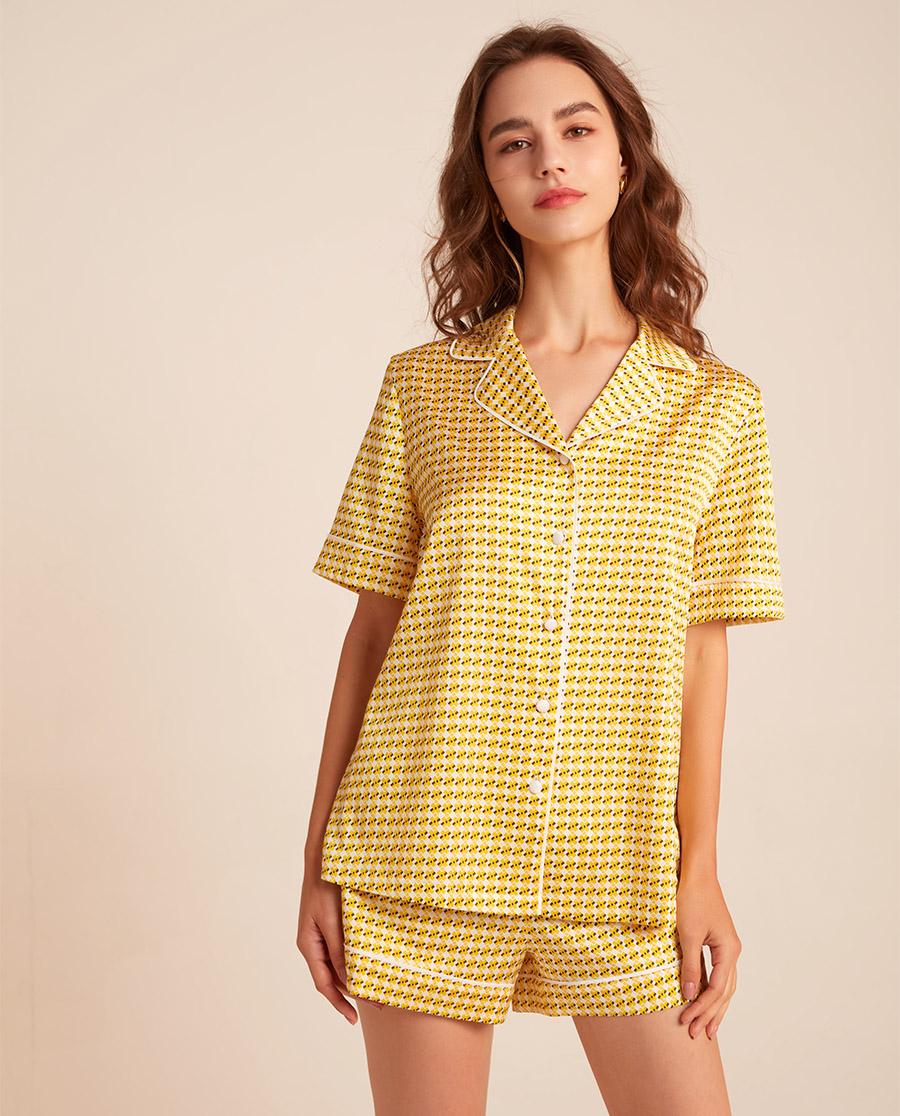 BECHIC睡衣|简元素系列短袖睡衣套装BC46AD1