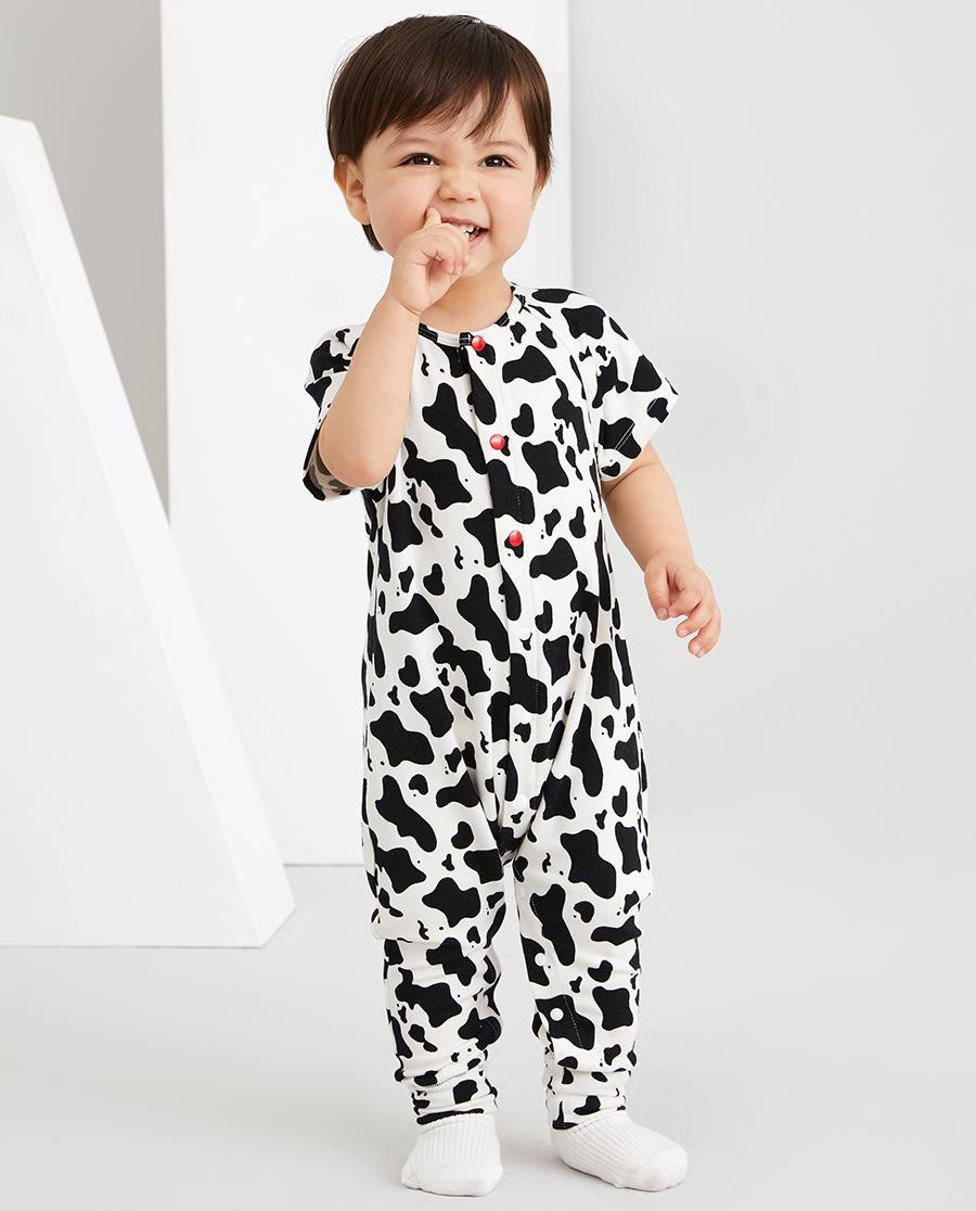Aimer Baby睡衣 爱慕婴儿软奶糖中性婴幼短袖睡袋AB345