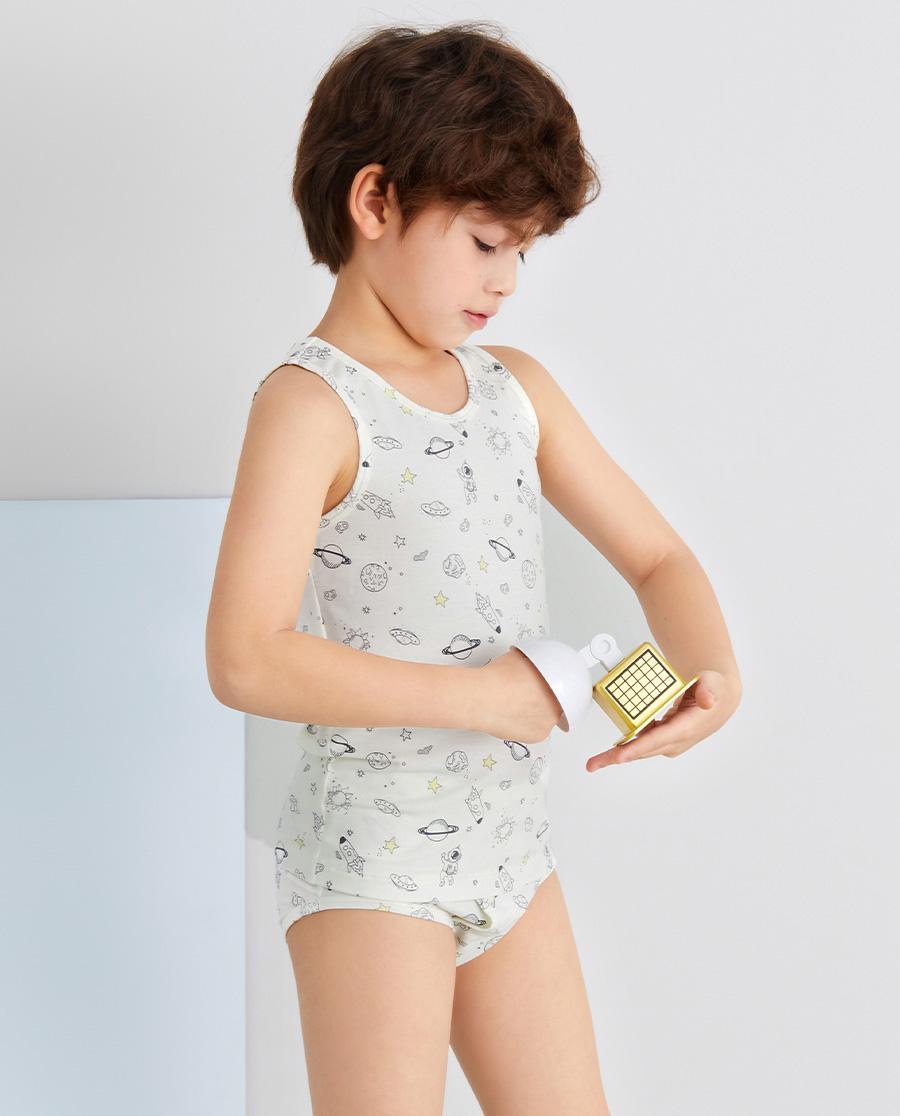 Aimer Kids内裤|爱慕儿童描线太空男孩中腰三角裤AK222