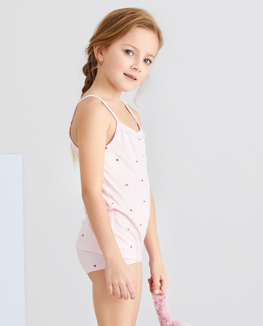 Aimer Kids内裤|爱慕儿童爱心樱桃女孩中腰平角裤AK123
