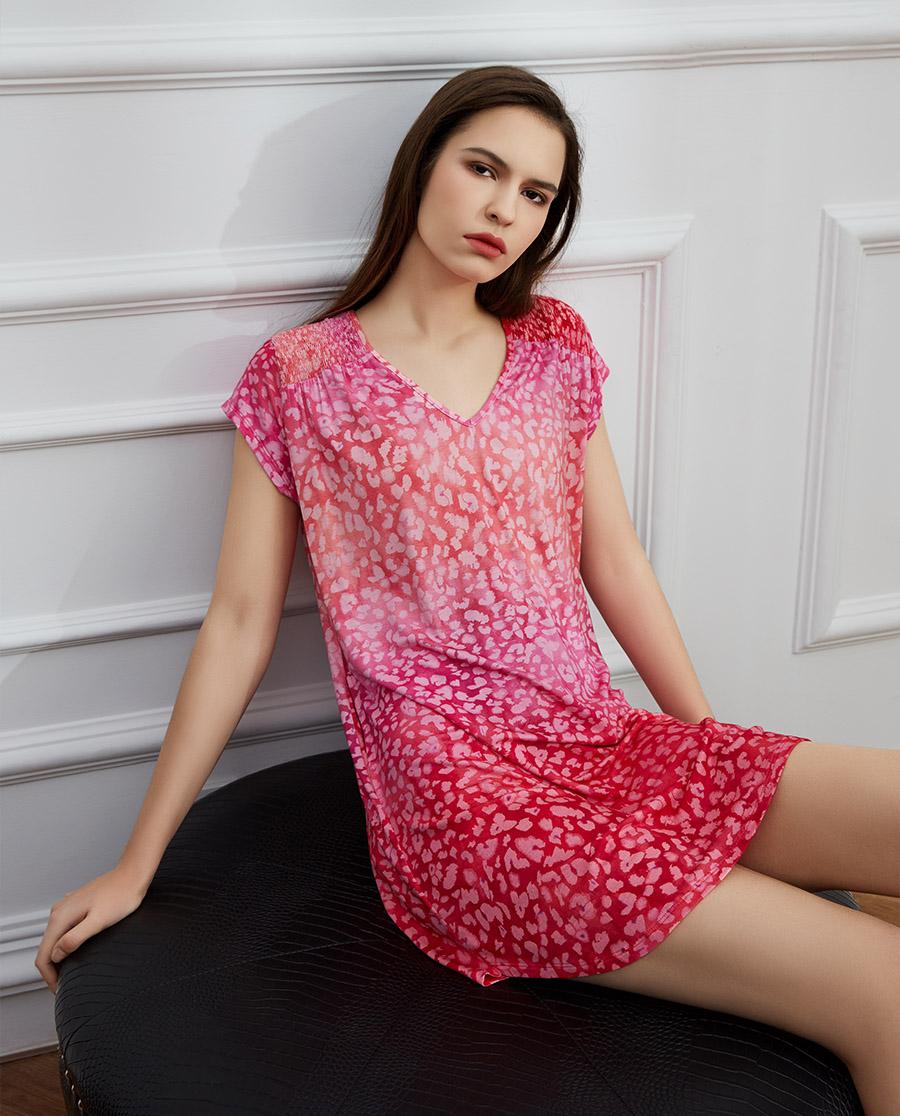 Le Chat睡衣|茉莉清晨系列短袖睡裙LEJM141