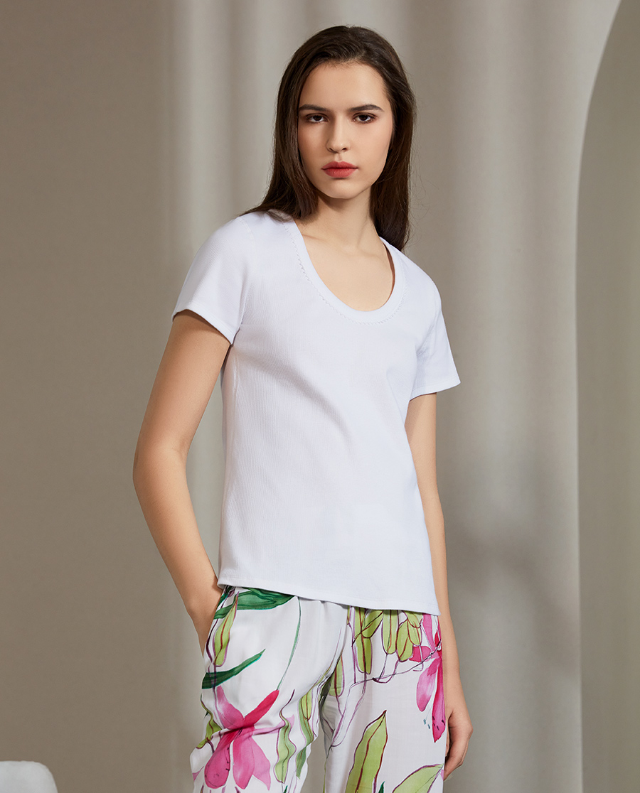 Le Chat睡衣|花语丛林系列短袖T恤LEEN131