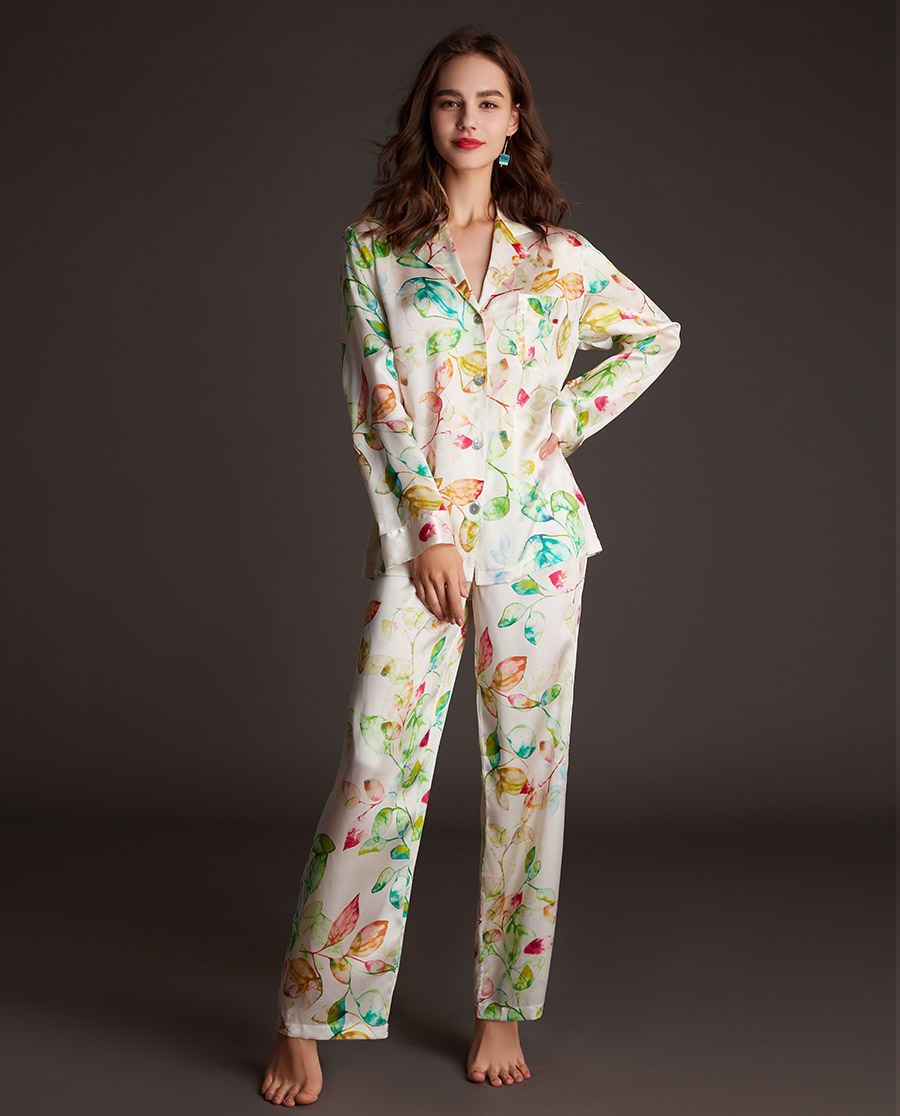 LUNA DI SETA睡衣|花露凝萃系列真丝分身套装LN60753