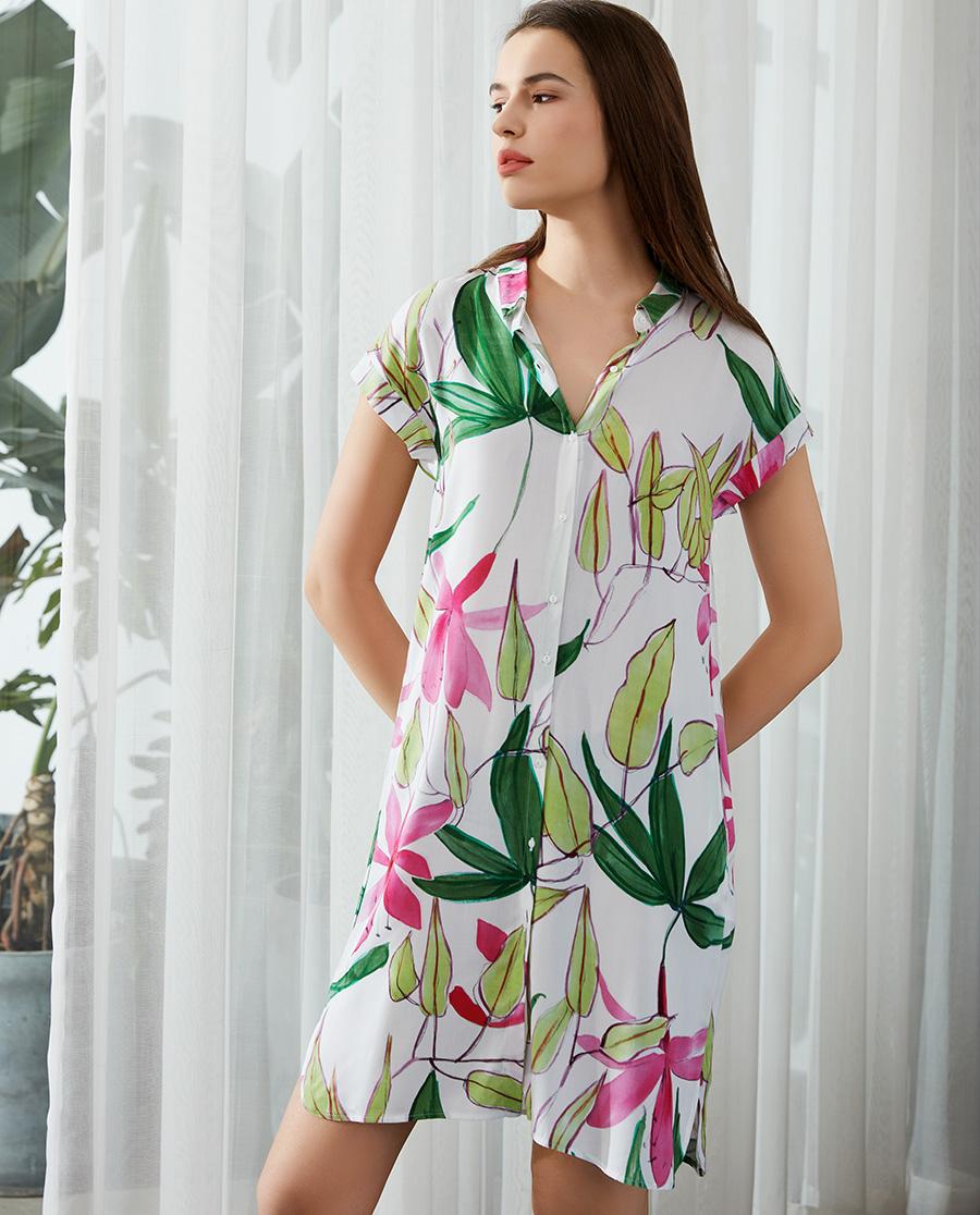 Le Chat睡衣|花语丛林系列短袖睡裙LECP105