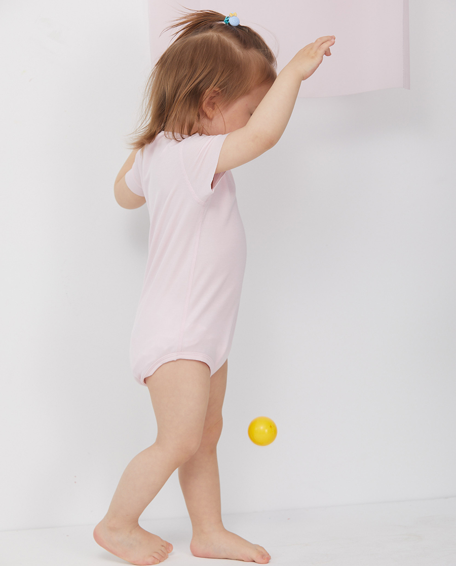 Aimer Baby睡衣 爱慕婴儿BABY净痕女婴幼短袖无腿连体爬