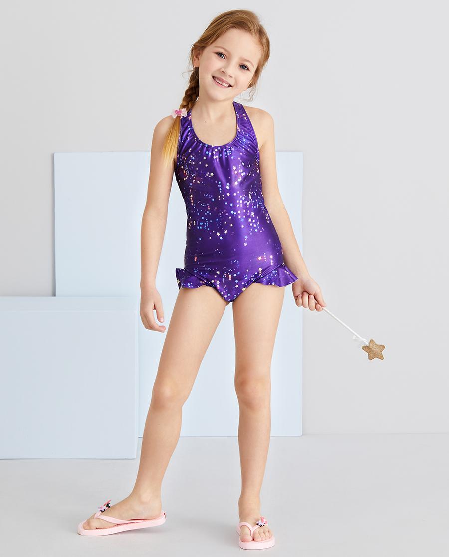 Aimer Kids泳衣|爱慕儿童梦幻星辰女孩连体泳衣AK1675