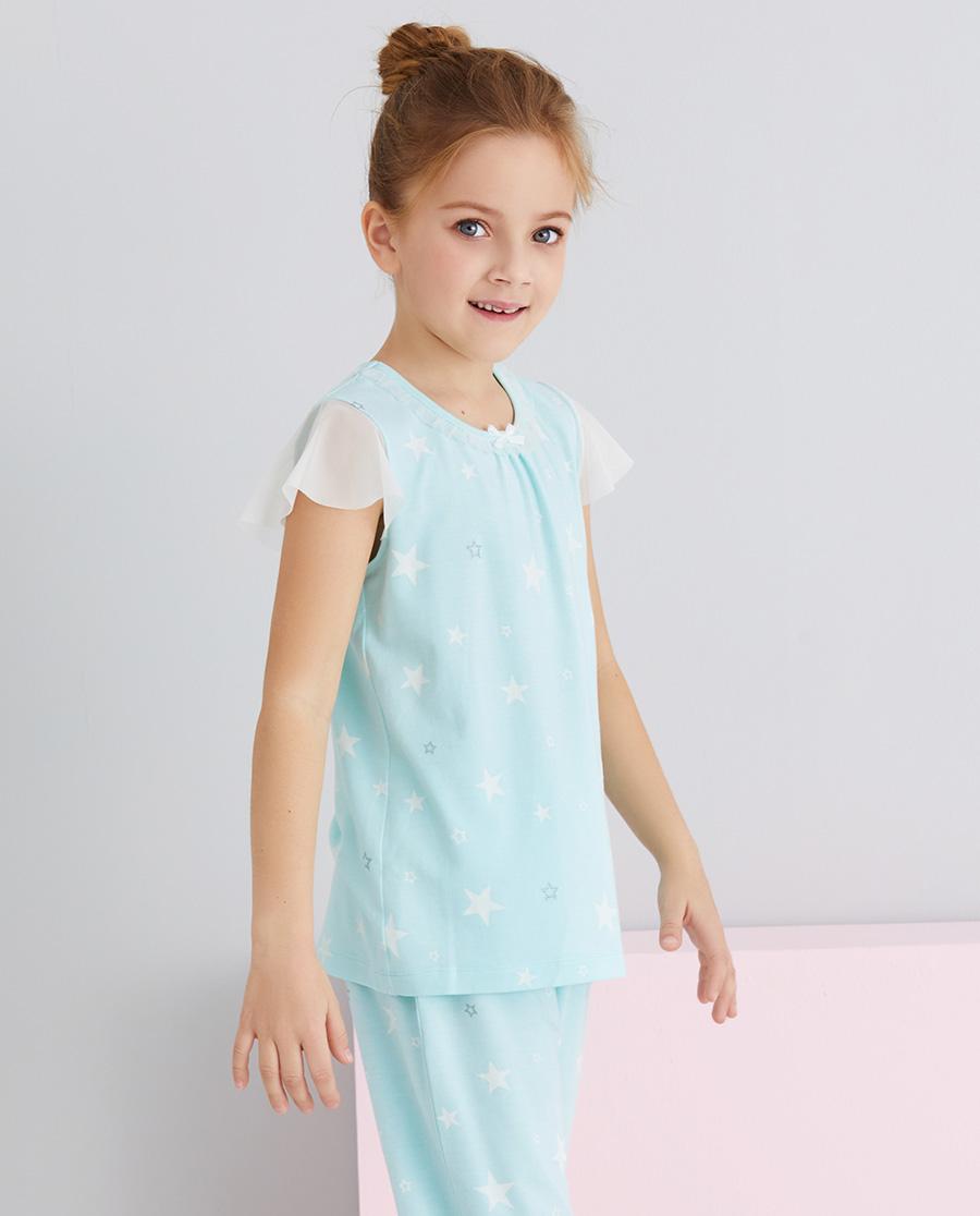Aimer Kids睡衣|爱慕儿童梦幻银河女孩套头短袖睡衣AK14