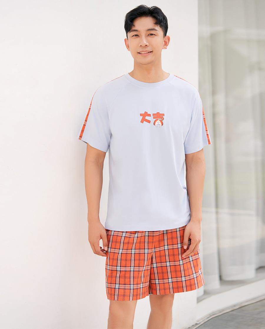 IMIS睡衣|爱美丽大吉大利男式短裤IM47BBB2