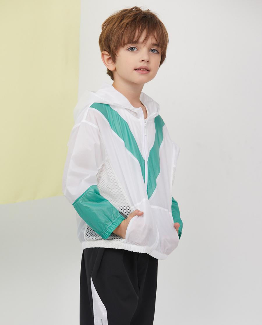Aimer Kids休闲外穿|爱慕儿童拼色畅想男孩连帽长袖上衣AK28