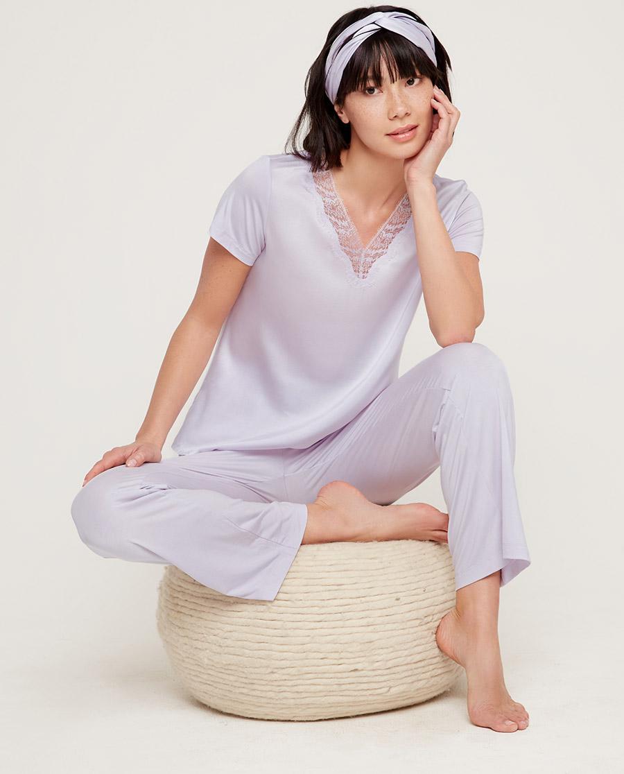 Aimer睡衣|爱慕丝润短袖分身家居套装AM465591