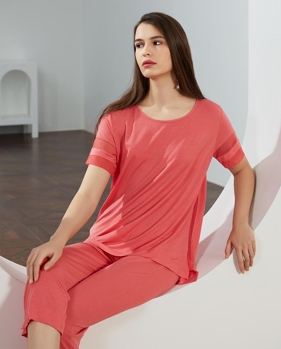 LUNA DI SETA睡衣|晨曦柔滑系列短袖睡衣套装LN60617