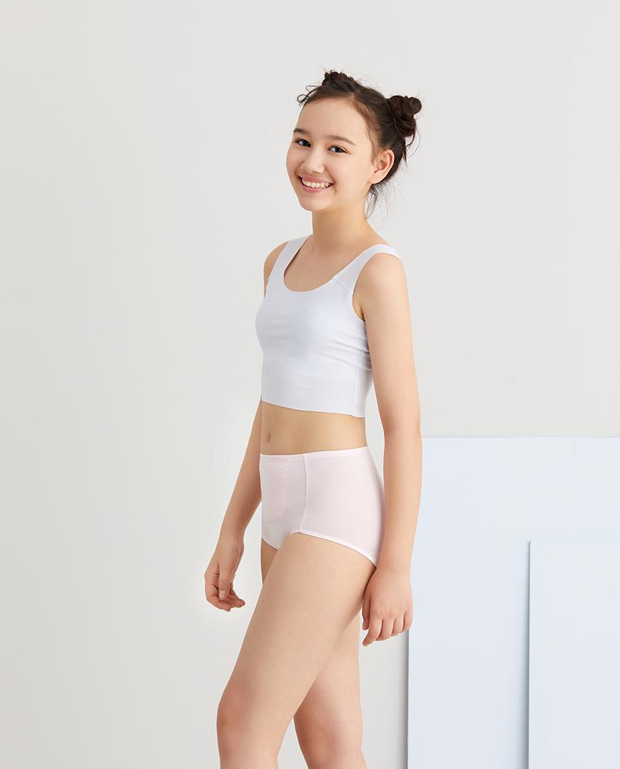 Aimer Junior内裤|爱慕少年百变包少女高腰生理裤AJ1224
