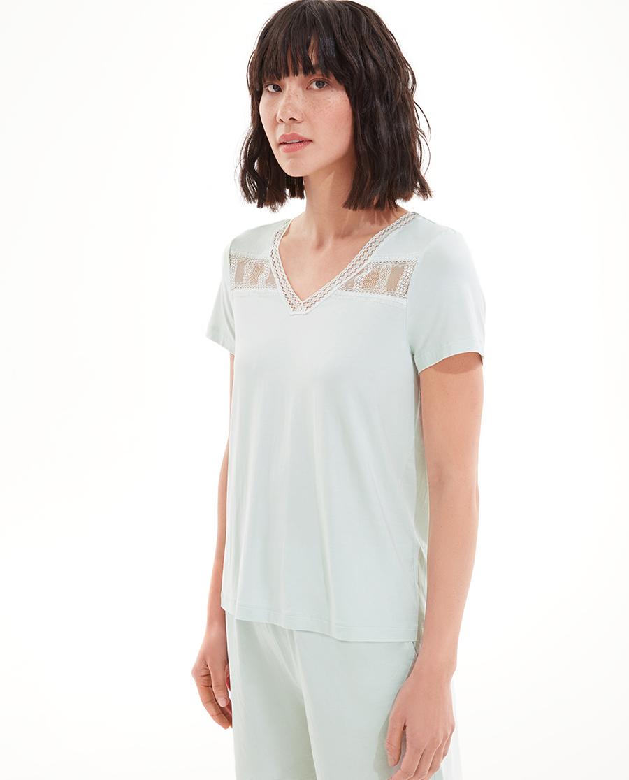 Aimer Basic睡衣|爱慕海洋之歌短袖短裤分身套装AM4657