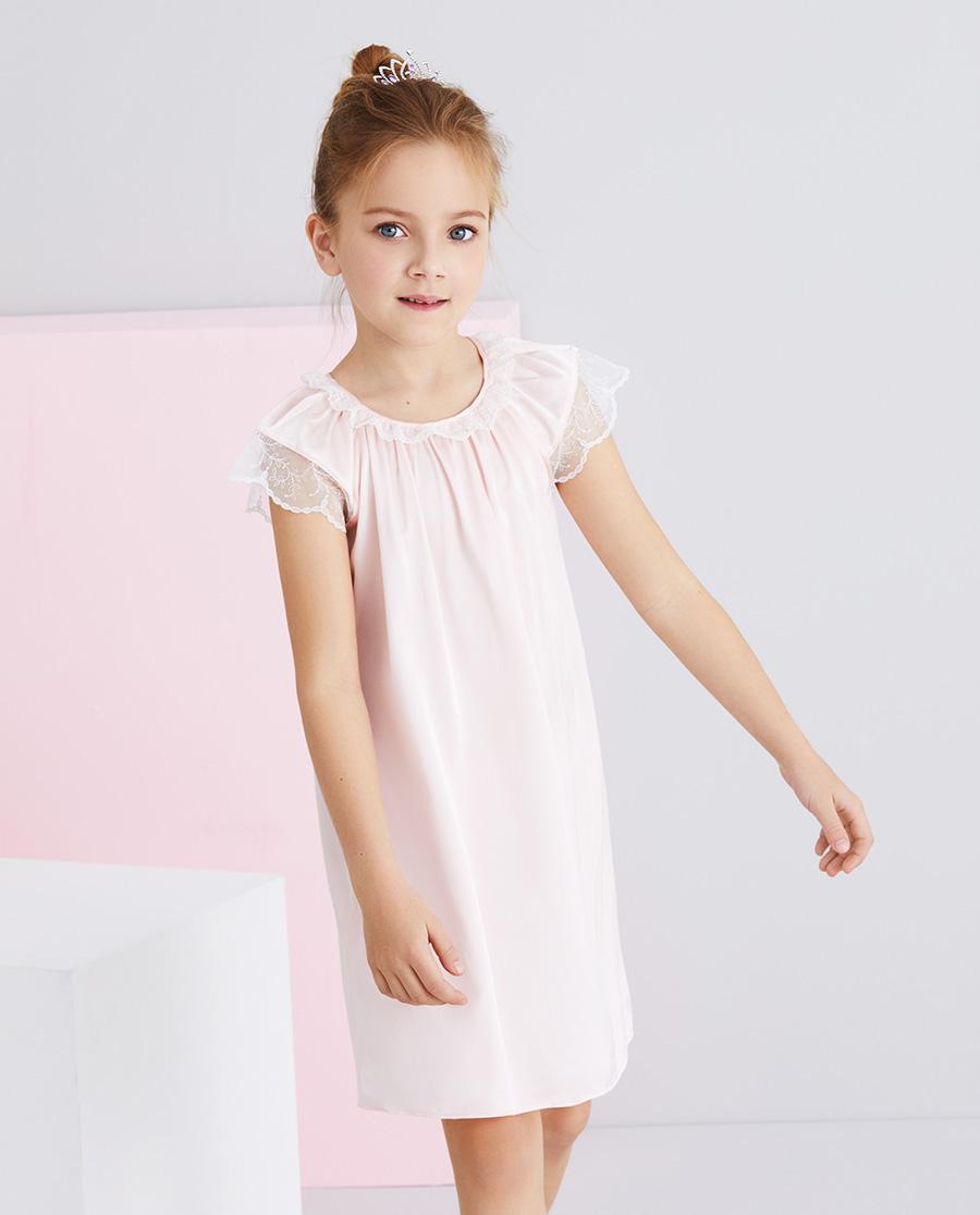 Aimer Kids睡衣|爱慕儿童甜睡公主女孩短袖睡裙AK1445